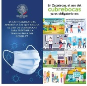 LXIII Legislatura promueve Ccubrebocas